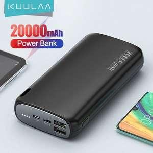 Портативный внешний аккумулятор 2.1A KUULAA 20000 мАч
