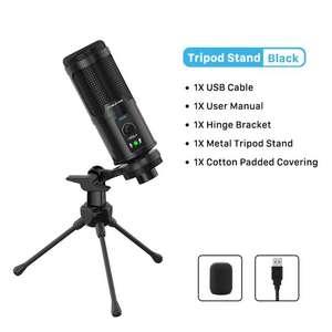 Профессиональный конденсаторный USB-микрофон CABLETIME C385 для ПК