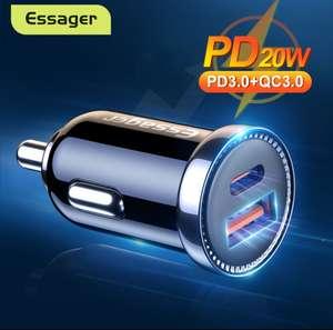 Зарядное устройство Essager автомобильное с USB-портами и поддержкой быстрой зарядки, QC 3.0
