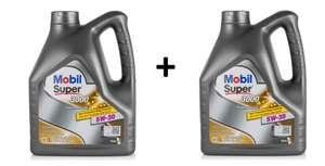 2 упаковки Масло моторное MOBIL 5w-30 4 л SUPER 3000 X1 FORMULA FE
