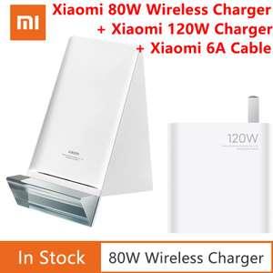 Беспроводная зарядка Xiaomi 80W Wireless Charging Stand Set с блоком Mi Charger V2 120W