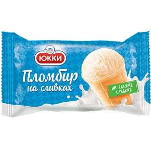 Мороженое Юкки Пломбир на сливках, 75г БЗМЖ в ассортименте