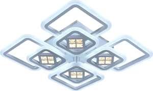Потолочный светильник СВЕТ СТОЛИЦЫ S1501-4+4B WH , LED, 224 Вт