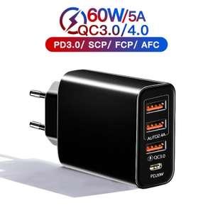 Сетевое зарядное устройство PD, 20 Вт, USB Type C, быстрая зарядка 3.0