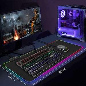 Игровой коврик для мыши с RGB-подсветкой (700х300) (в наличии 4 вида размеров)