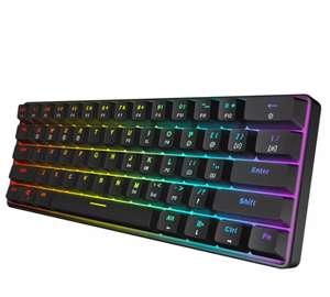 Игровая механическая клавиатура с RGB-подсветкой и кабелем, IP68