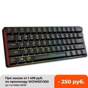 Механическая клавиатура GK61 на Gateron Red