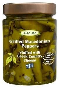 Перец македонский на гриле фаршированный греческим фермерским сыром