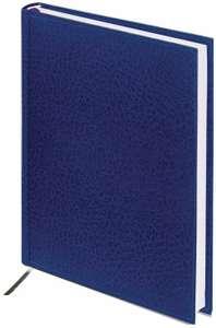 2 = 1 Ежедневник BRAUBERG Profile недатированный, искусственная кожа, А5, 136 листов, синий