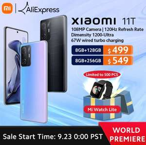 Смартфон Xiaomi 11T 8/128 Gb (премьера 23.09)