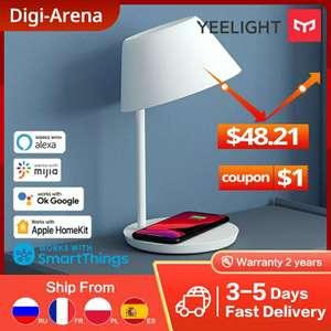 Умная прикроватная лампа Yeelight YLCT03YL беспроводная зарядка для телефона
