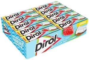 Жевательная резинка Dirol Cadbury со вкусом кокоса и клубники без сахара 30 шт.