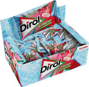 Жевательная резинка Dirol Cadbury X-Fresh Арбузный лед, без сахара, 100 шт