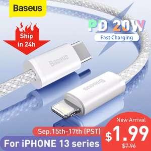 1 метр Baseus 20 Вт PD USB C кабель для iPhone