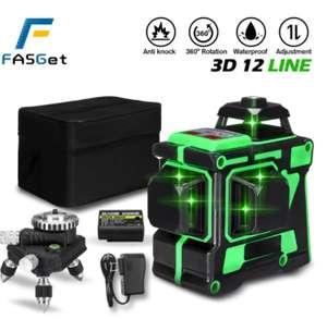Лазерный уровень (Нивелир) FASGet 3D 12 линий