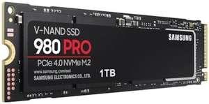 Твердотельный накопитель Samsung 980 Pro 1 TB PCIe 4.0, NVMe M.2 (2280) внутренний SSD