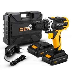 Аккумуляторная дрель 16В + набор 63 инструментов в кейсе Deko DKCD16FU-Li 1.5Ahx2 63 tools + case
