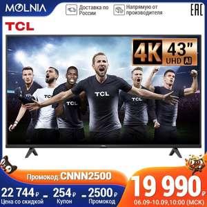 4K телевизор TCL 43p615