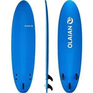 Доска для серфинга Softboard 100 7' (в комплекте лиш и 3 плавника Olaian)