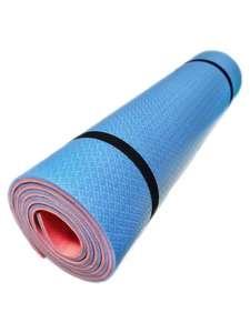 Коврик для йоги и фитнеса оранжево-синий, 1800х600х10мм