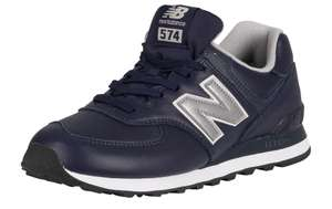Кроссовки New Balance 574 Leather Trainers - Pigment/White Munsell