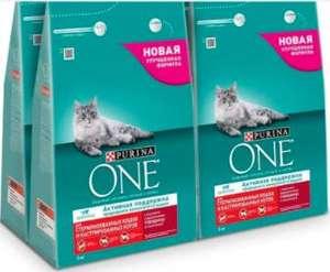 Сухой корм Purina ONE для стерилизованных кошек и котов с говядиной и пшеницей, 12 кг (4 шт. по 3 кг)
