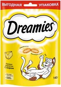 Лакомство для кошек Dreamies Подушечки с сыром, 140 г