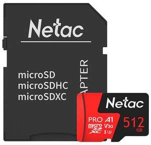 Карта памяти Netac P500 Extreme Pro 512 GB