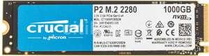 SSD накопитель CRUCIAL P2 CT1000P2SSD8 1ТБ, M.2 2280, PCI-E x4, NVMe