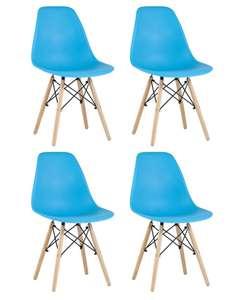 Комплект стульев Eames DSW Style BOX (комплект из 4 штук, разные цвета)