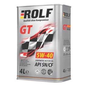 Масло моторное ROLF GT SAE 5W-40 API SN/CF, синтетическое, 4л.