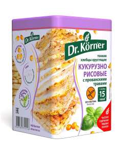 Скидки на хлебцы Dr. Korner в ассортименте