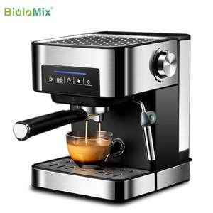 Кофеварка BioloMix 20 бар (эспрессо, капучино, латте, мокко, насадка для вспенивания молока) + кухонный комбайн в описании