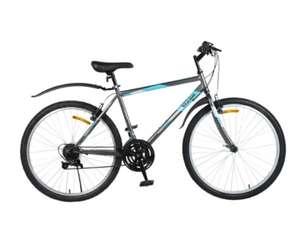 """[Иркутск] Велосипед Life 26"""", 18 скоростей, серо-голубой, Арт. LFE26ST-M"""