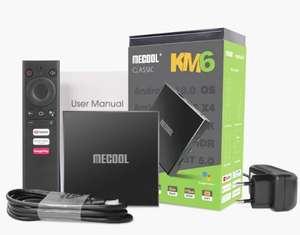 ТВ-приставка Mecool KM6 classic 2/16 с аэропультом g10(цена зависит от аккаунта)