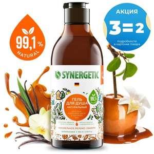 Гель для душа Synergetic «Карамельное яблоко и ваниль» (3 шт. по 380мл / 94₽ шт.)
