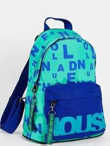 Бирюзовый рюкзак с логотипом House of Holland