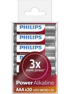 Батарея Philips Power Alkaline LR03P20T/10 AAA (20шт.)