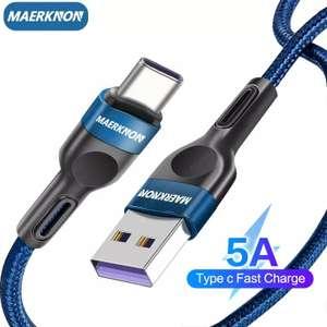 Кабель USB Type C 5A для быстрой зарядки