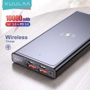 Портативное зарядное устройство KUULAA, 10000 mah