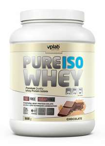 Изолят сывороточного протеина VPLAB Pure Iso Whey шоколад 908г (в приложении)
