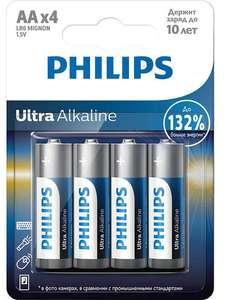 Philips / Батарея Ultra Alkaline LR6E4B/51 (AA) 4 шт.