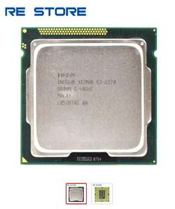 Процессор Intel Xeon E3 1270 (4 ядра / 8 потоков, 3.5GHz по всем ядрам, 1155 сокет)