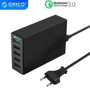 Зарядное устройство ORICO с 5 USB-портами и поддержкой QC2.0, 40 Вт