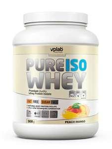 Изолят сывороточного протеина VPLAB Pure Iso Whey персик/ваниль 908г (в приложении)