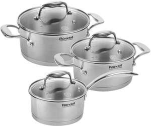 Набор посуды RONDELL Glisset, 6 предметов (подходит для индукции)