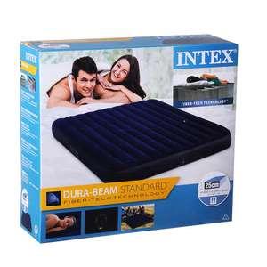 Надувной матрас INTEX Classic downy (Fiber tech) Кинг 183x203x25 см
