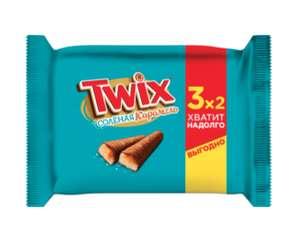 [ЕКБ] Шоколадный батончик TWIX солёная карамель, 165 г