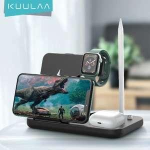 Беспроводное зарядное устройство KUULAA 15 Вт Qi для Apple на 4 устр-ва