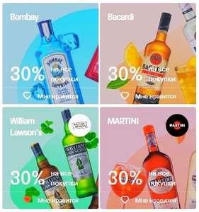Тинькофф возвращает 30% стоимости алкоголя известных марок в сетевых магазинах (Весь октябрь!)